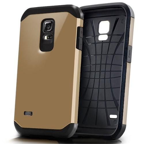Microsonic Slim Fit Dual Layer Armor Samsung Galaxy S5 Mini Kılıf Sarı