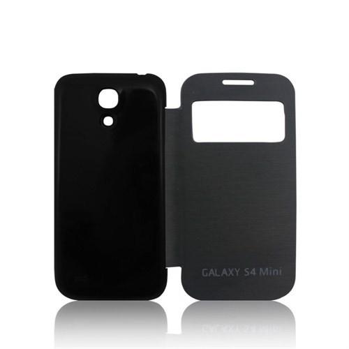 Case 4U Samsung i9190 Galaxy S4 Mini Akıllı Kılıf Siyah