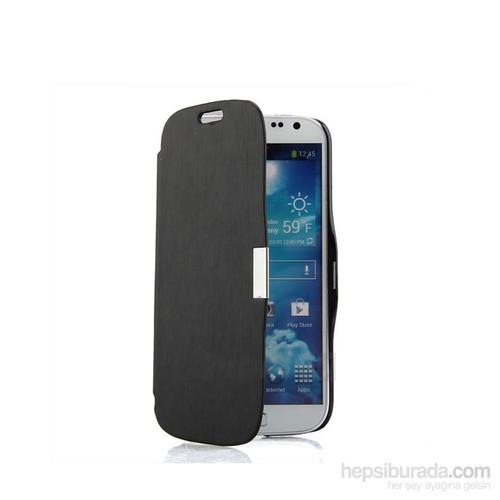 Case 4U Samsung i9190 Galaxy S4 Mini Stand Kılıf Siyah*