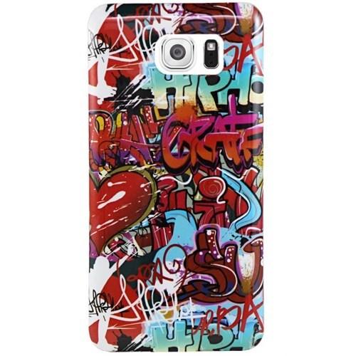 Cepsesuar Samsung Galaxy S6 Edge Kılıf Silikon Desenli Grafiti