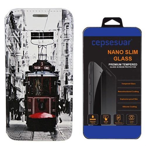 Cepsesuar General Mobile Discovery 2 Mini Kılıf Standlı Tramvay + Cam