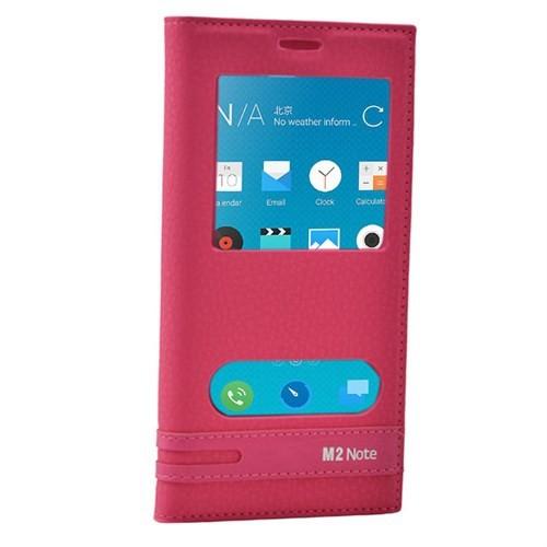 Cep Market Meizu M2 Note Kılıf Pencereli Kapaklı Elite