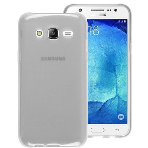 Microsonic Samsung Galaxy J7 Kılıf Transparent Soft Beyaz