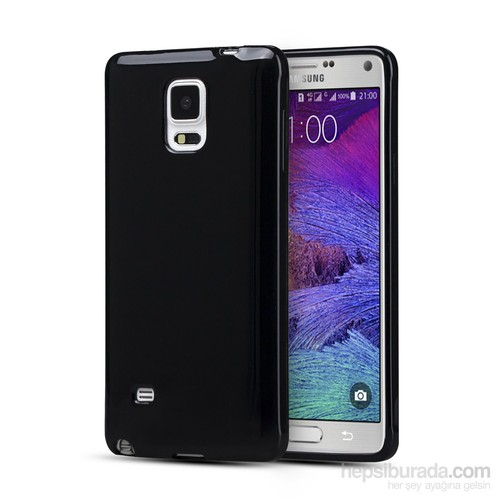 Microsonic Glossy Soft Samsung Galaxy Note 4 Kılıf Siyah