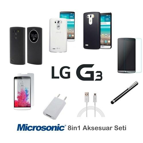 Microsonic Lg G3 Kılıf & Aksesuar Seti 8İn1