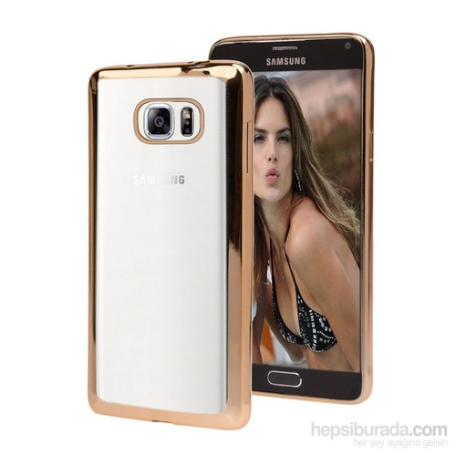 Microsonic Samsung Galaxy Note 5 Kılıf Flexi Delux Gold
