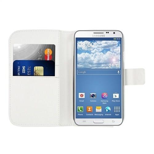 Microsonic Cüzdanlı Deri Kılıf - Samsung Galaxy Note 3 Neo Beyaz
