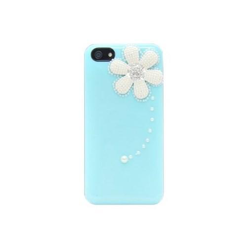 Resonare Apple iPhone 5 Spring - Boncuk Desenli - Mavi Kapak