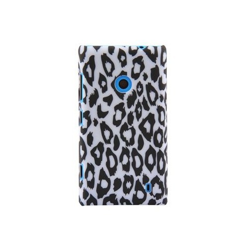Duck Lumia 520 Leopar Desenli Daily Siyah-Beyaz Kapak