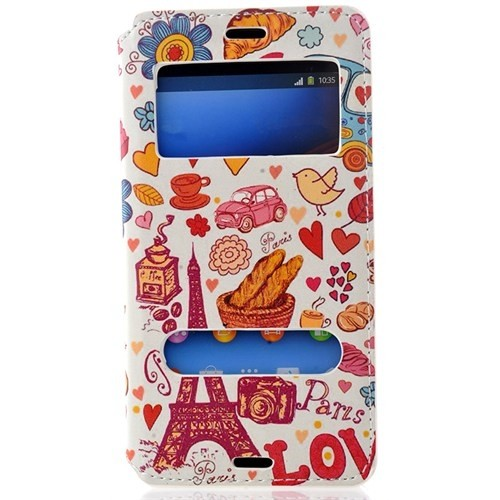 CoverZone Sony Xperia Z3 Compact Kılıf Resimli Pencereli Eyfel Kulesi