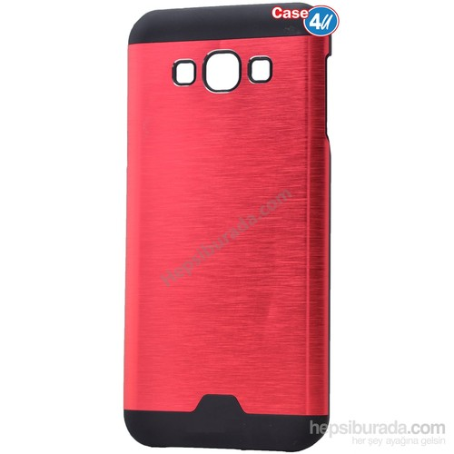 Case 4U Samsung Galaxy J2 Moto Sert Arka Kapak Kırmızı