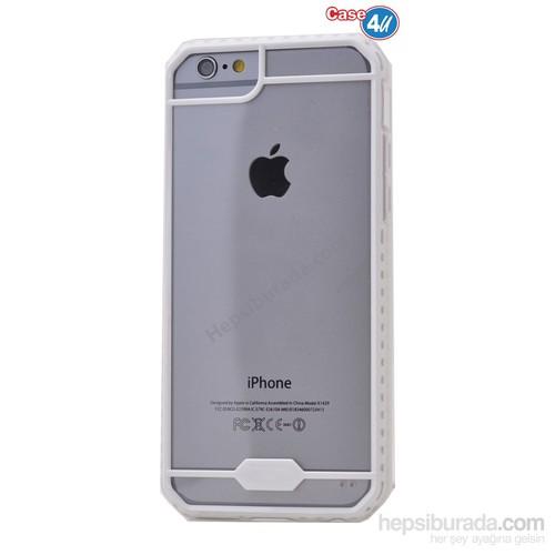 Case 4U Apple İphone 6 Space Silikon Kılıf Beyaz*