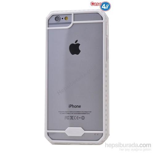 Case 4U Apple İphone 6S Plus Space Silikon Kılıf Beyaz