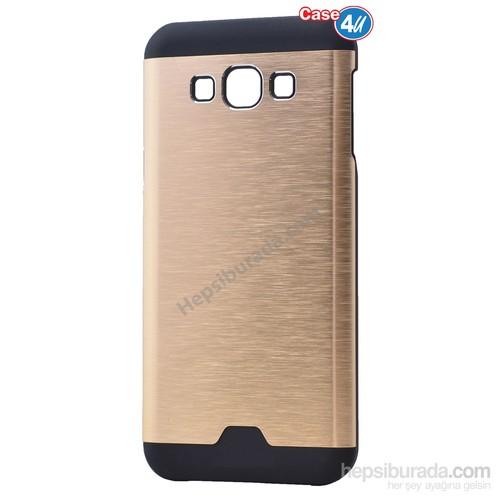 Case 4U Samsung Galaxy E5 Moto Sert Arka Kapak Altın