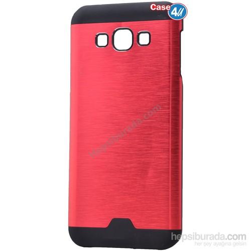 Case 4U Samsung Galaxy A8 Moto Sert Arka Kapak Kırmızı