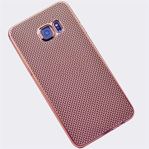 Kılıfshop Samsung Galaxy S7 Edge Hasır Desenli Silikon Kılıf
