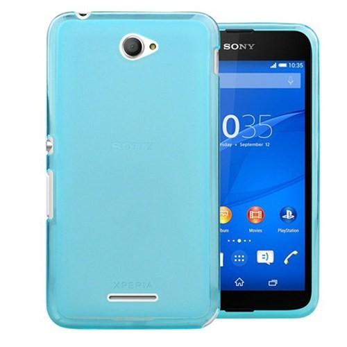 Case 4U Sony Xperia E4 Ultra İnce Silikon Kılıf Mavi