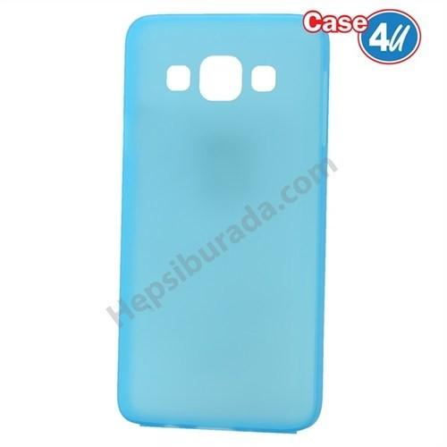 Case 4U Samsung Galaxy A3 Ultra İnce Silikon Kılıf Mavi