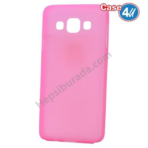 Case 4U Samsung Galaxy E5 Ultra İnce Silikon Kılıf Pembe