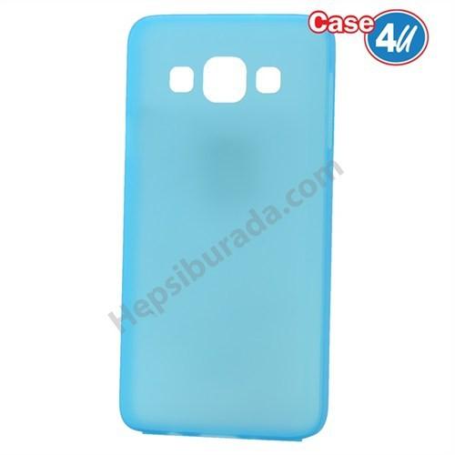 Case 4U Samsung Galaxy E5 Ultra İnce Silikon Kılıf Mavi