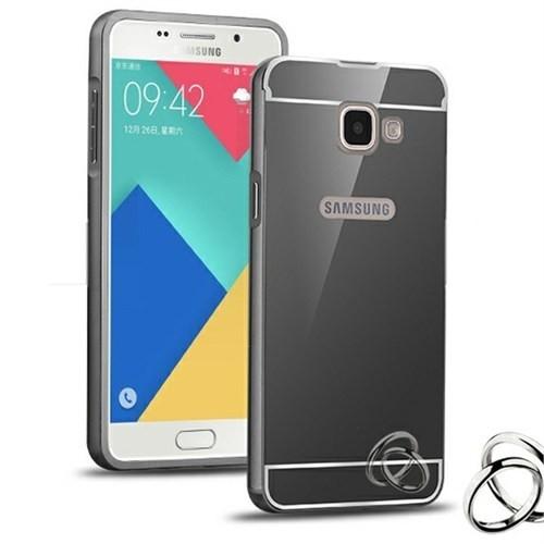 Kılıfshop Samsung Galaxy A3 2016 Aynalı Lüks Metal Bumper Kılıf