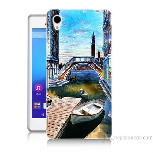 Teknomeg Sony Xperia M4 Aqua Kapak Kılıf Tekneler Tablo Baskılı Silikon