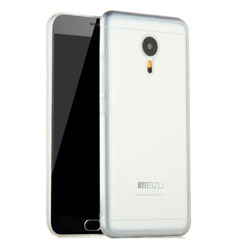 Microsonic Meizu M2 Note (Note 2) Kılıf Transparent Soft Beyaz