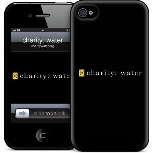 Gelaskins Apple iPhone 4 Hardcase Kılıf Charity: Water Logo O