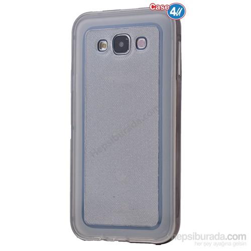 Case 4U Samsung Galaxy J7 Çerçeveli Silikon Kılıf Siyah