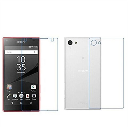 Ally Sony Xperia Z5 Mini Compact Ön Ve Arka Cam Ekran Koruyucu
