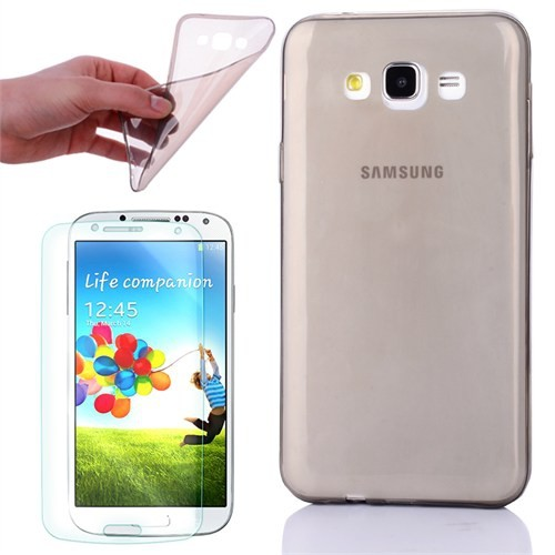 Cep Market Samsung Galaxy A5 Kılıf 0.2Mm Antrasit Silikon - Cam