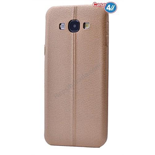 Case 4U Samsung J3 Parlak Desenli Silikon Kılıf Koyu Altın