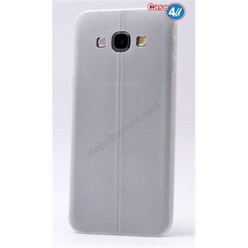 Case 4U Samsung J7 Parlak Desenli Silikon Kılıf Beyaz