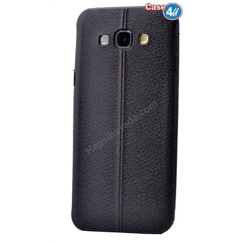 Case 4U Samsung On 5 Parlak Desenli Silikon Kılıf Siyah