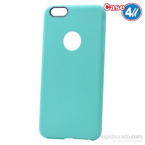 Case 4U Apple İphone 6S Çizgili Silikon Kılıf Yeşil