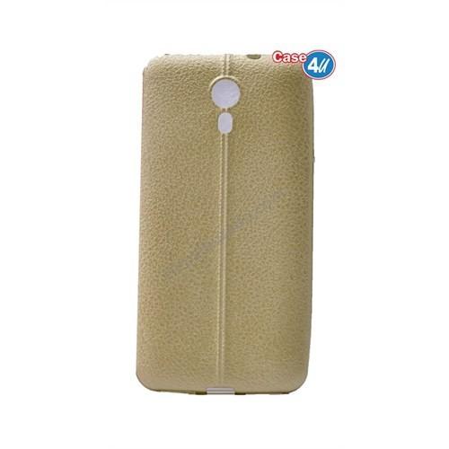 Case 4U General Mobile 4G Andorid One Parlak Desenli Silikon Kılıf Altın