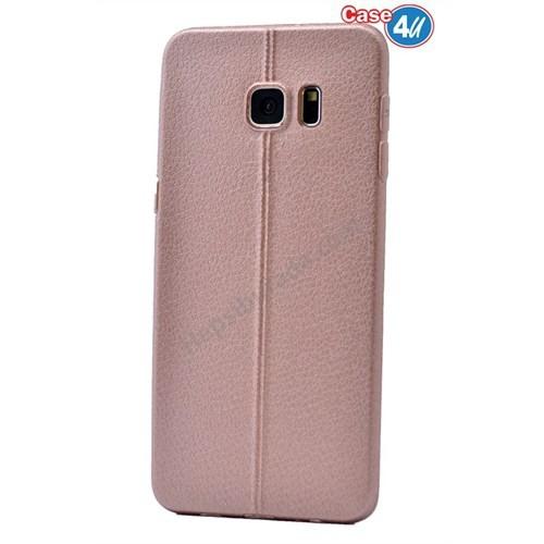 Case 4U Samsung Galaxy S6 Edge Plus Parlak Desenli Silikon Kılıf Rose Gold