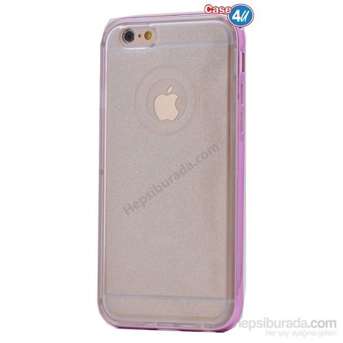 Case 4U Apple İphone 6 Çerçeveli Silikon Kılıf Pembe