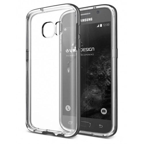 Verus Samsung Galaxy S7 Kılıf Crystal Bumper Steel Silver