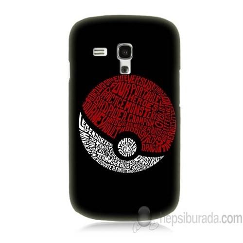 Teknomeg Samsung Galaxy S3 Mini Kapak Kılıf Pokemon Pokeball Baskılı Silikon