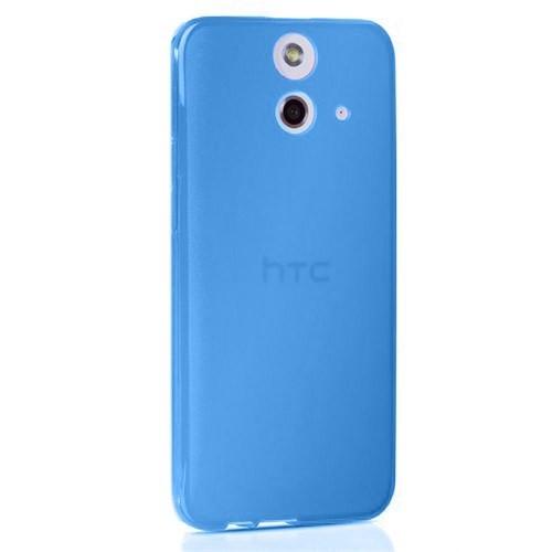 Cep Market Htc One E8 Kılıf 0.2Mm Mavi Silikon