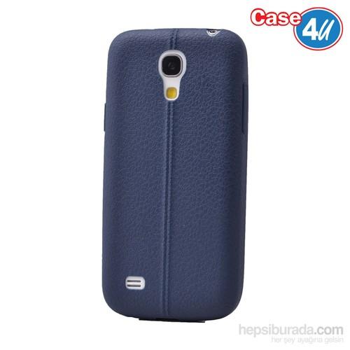 Case 4U Samsung Galaxy S4 Mini Desenli Silikon Kılıf Lacivert