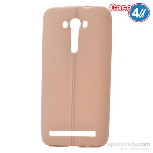 """Case 4U Asus Zenfone 2 Laser 5""""(Ze500kl) Desenli Silikon Kılıf Altın"""
