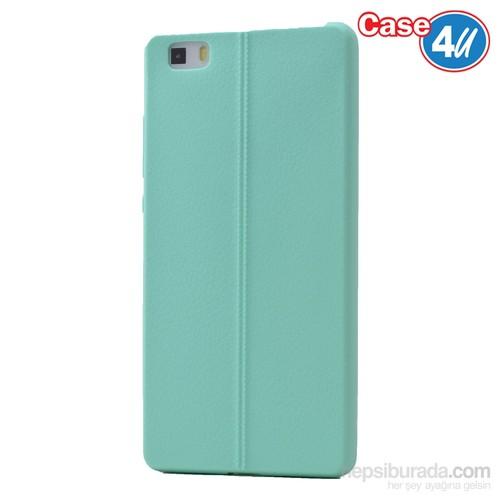 Case 4U Huawei P8 Lite Desenli Silikon Kılıf Yeşil