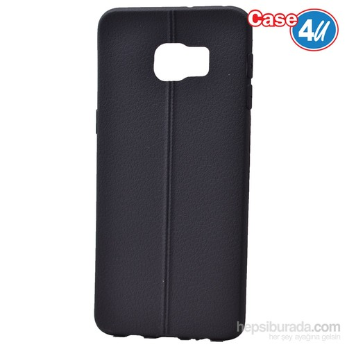 Case 4U Samsung Galaxy S6 Edge Plus Desenli Silikon Kılıf Siyah