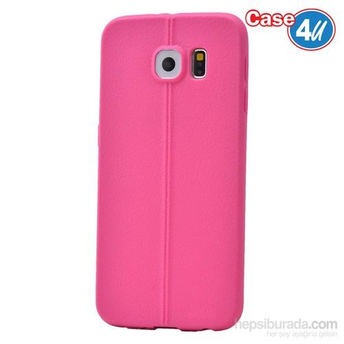 Case 4U Samsung Galaxy S6 Desenli Silikon Kılıf Pembe