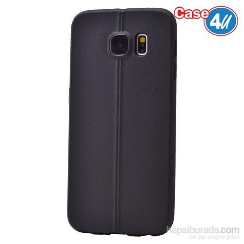 Case 4U Samsung Galaxy S6 Desenli Silikon Kılıf Siyah