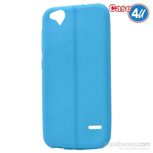 Case 4U Turkcell T60 Desenli Silikon Kılıf Mavi