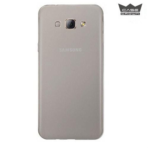 CaseCrown Samsung Galaxy J5 Ultra İnce Silikon Kılıf Füme