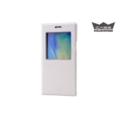 CaseCrown Samsung Galaxy A5 Gizli Mıknatıslı Pencereli Kılıf Beyaz